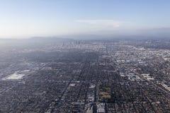 Antenne de brouillard enfumé de Los Angeles Image libre de droits