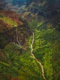 Antenne de canyon de Waimea Photos stock