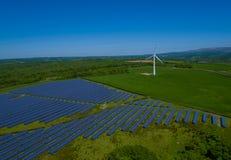 Antenne de centrale de panneau solaire Photo libre de droits