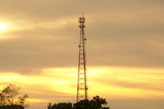 Antenne de communication de téléphone portable Photographie stock