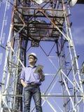 Antenne de contrôle de communications d'ingénieur photos stock