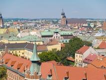 Antenne de Cracovie Photographie stock libre de droits