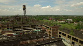 Antenne de Detroit banque de vidéos