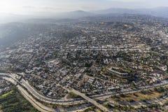 Antenne de Highland Park Los Angeles Photos libres de droits