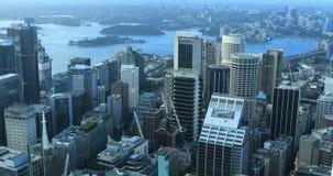 Antenne de horizon 4K van van Sydney, Australi? stock footage