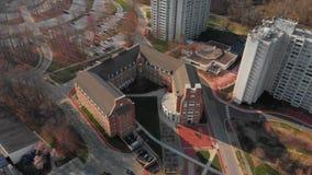 Antenne de l'Université du Delaware Etats-Unis, Newark banque de vidéos