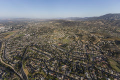 Antenne de la Californie de voisinages de Newbury Park photographie stock libre de droits