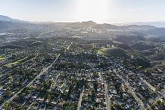 Antenne de la Californie de voisinages de Thousand Oaks et de Newbury Park photographie stock