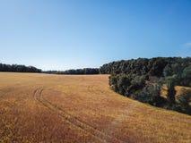 Antenne de la nouvelle liberté et des terres cultivables environnantes dans Penns du sud images stock