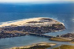 Antenne de littoral atlantique près de New York Photo libre de droits