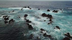 Antenne de littoral d'Hawaï banque de vidéos