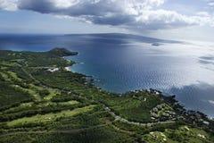 Antenne de littoral de Maui. Image libre de droits