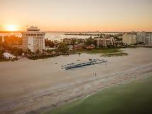 Antenne de longue clé de bateau de la Floride photographie stock