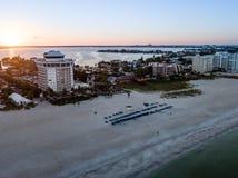 Antenne de longue clé de bateau de la Floride photos stock