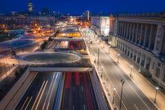 Antenne de longue exposition de Philadelphie photos stock