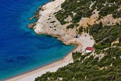 Antenne de Lubenice de plage Image libre de droits