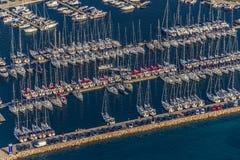 Antenne de marina de Biograd Photographie stock libre de droits