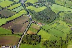 Antenne de paysage rural près images libres de droits