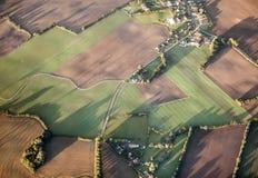 Antenne de paysage rural près de Hambourg Image libre de droits