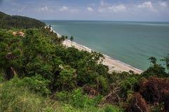 Antenne de plage de barrage de Khao Plai Image libre de droits