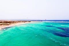 Antenne de plage de Boca Grandi sur l'île d'Aruba Photos stock