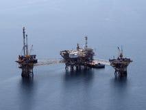 Antenne de plate-forme pétrolière image libre de droits