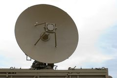 Antenne de radar militaire photo stock