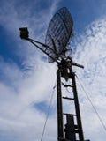 Antenne de radar militaire Photographie stock libre de droits