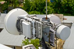 antenne de Radio-relais pour la communication cellulaire Image stock