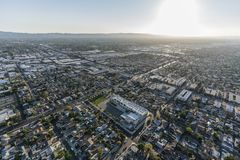 Antenne de San Fernando Valley Late Afternoon Los Angeles images libres de droits