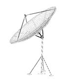 Antenne de satellite, numérique Photo stock