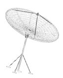 Antenne de satellite, numérique Image stock