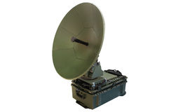 Antenne de satellite portative images stock