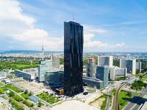 Antenne de secteur de Danube, Vienne photographie stock libre de droits