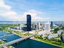 Antenne de secteur de Danube, Vienne photos libres de droits