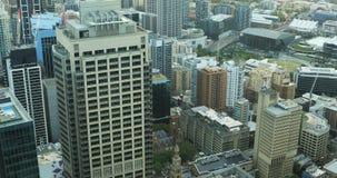 Antenne de stadscentrum 4K van van Sydney, Australië stock footage