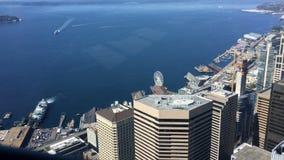 Antenne de stadscentrum van van Seattle, Washington 4K stock video