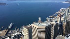 Antenne de stadscentrum van van Seattle, Washington 4K stock footage