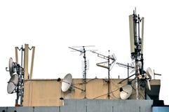 Antenne de télécommunication Photos stock