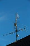 antenne de télévision et émetteur de Wi-Fi Images stock