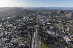Antenne de Thousand Oaks et de 101 autoroutes Image libre de droits
