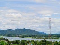 Antenne de tour de télécommunication Images libres de droits