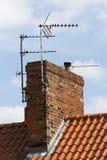 Antenne de TV Photographie stock