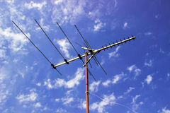 Antenne de TV Photographie stock