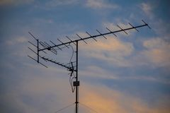 Antenne de TV image stock