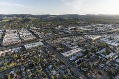 Antenne de vallée de Los Angeles Images libres de droits