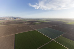 Antenne de Ventura County California Farm Fields Photo stock