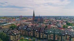 Antenne de ville d'Osijek banque de vidéos