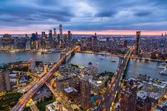 Antenne de ville de NY photo stock