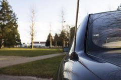 Antenne de voiture photographie stock